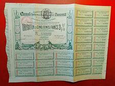 CANAL INTEROCEANIQUE DE PANAMA ( Obligation de 500 FR 3% )