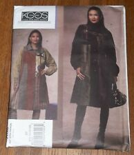 Vogue 1146 Misses' Koos Couture Wearable Art Designer Coat  Pattern sz 16 -22