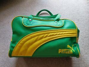 Vintage Retro PUMA Lacoste Gym Tote sports Bag Green 80s Casuals pop culture