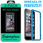 Premium Real Tempered Glass Film Screen Protector for Apple Iphone 5 6 7 Plus