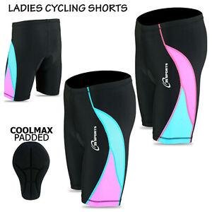 Ladies Women's Girls Cycling Padded Shorts Cool Max Tights Leggings Anti Bac Pad