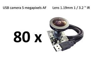 80 units - USB Camera Module 5 megapixel AF Lens 1.19mm 1 / 3.2 '' IR