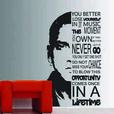 Eminem You Better Lose Yourself Verse Lyrics Vinyl Wall Art Sticker Rap head