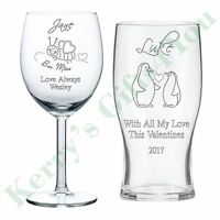 Personalised Engraved Glass Gift Love Husband Wife Anniversary Birthday Gifts