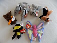 7 McDonalds Teenie Beanie Babies TY Antsy Bumble Chip Chocolate Flitter Mel GUC