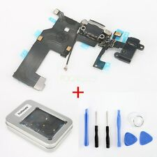 Black USB Port Charger Connector Headphone Jack Flex Cable+Tool Kit For iPhone 5