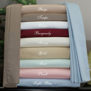 Soft Bedding Fitted Sheet Deep Pocket Egyptian Cotton US Full Size All Solid