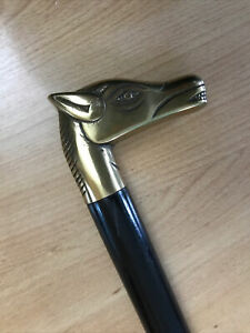 Gorgeous Horse Head Flat Handle Walking Stick Excellent Condition