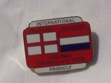 SPAIN V HOLLAND FRIENDLY 2005 OFFICIAL MATCH PIN BADGE IN VERY GOOD CONDITION