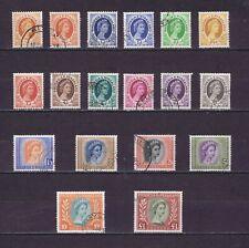 DD932 RHODESIA & NYASALAND 1954 Queen Elizabeth II 16v + 2 coils   used