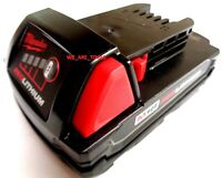 GENUINE 18V Milwaukee 48-11-1815 Compact BATTERY M18 18 Volt Red Lithium