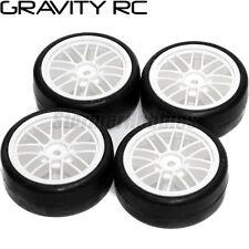 Gravity RC G-Spec Type C 24mm Touring Car Tires on White GT Rims (4) GRC132