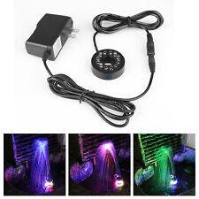 Water Pump Lighting for Garden Fish Aquarium  12 LEDs Fountain Ring Lights