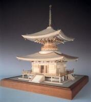Woody JOE 1/50 Ishiyamadera pagoda (laser cut) Wooden Mini Model Kit Japan