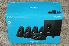 OPEN BOX Logitech Z506 75W Surround Sound 5.1 Home Theater Speakers Black