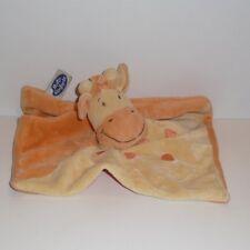 Doudou Girafe Mots d'enfants - Orange Jaune