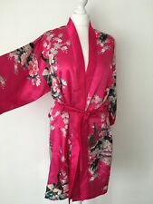 Ladies Pink 100% Silk Kimono Size M/L Bird Print NWOT