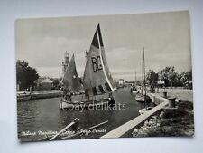 MILANO MARITTIMA CERVIA porto canale barca vela pescatore Ravenna cartolina