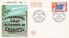 FRANCE 1965 FDC CONSEIL DE L'EUROPE  YT SERVICE 25