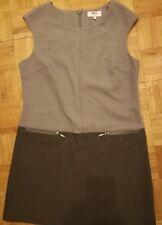 NEXT PETITE Ladies Two Tone Stone Taupe Shift Tunic Dress - Sz 12 l@@k