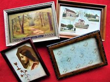 4 ANTIQUE GERMAN PICTURE FRAMES & PICTURES ~ DATED 1900-1946