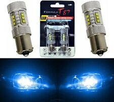 LED Light 80W 1156 Blue 10000K Two Bulbs Front Turn Signal Replace Show Color