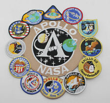 US Apollo Mission Patch Collage 1,7,8,9,10,11,12,13,14,15,16,17 NASA Patch