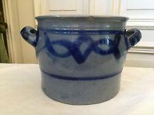 Steinzeug Krug Topf blau/grau Salzglasur Schmalztofp Vorratstopf Handarbeit