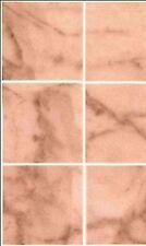 Dollhouse / No-Wax Marble Pink Flooring 11-1/2 x 8-3/4 #MH5955