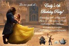 Personalised Beauty and the Beast Invitations