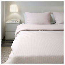 IKEA Fjallvedel King Duvet Set 4 Pillowcases 240x220 Cm Pink & White