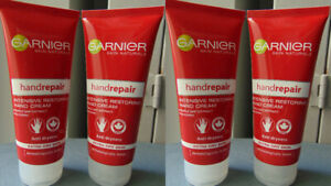 Garnier Hand Repair Intensive Restoring Hand Cream For Extra Dry Skin 4 x 100ml