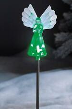 Solar Powered Colour Changing LED Angel Christmas Decoration Memorial Garden
