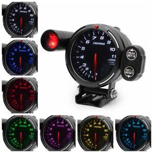 3.5'' 80mm 7 Color LED Car Tachometer RPM Gauge Meter Step Motor w/ Shift Light