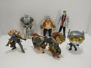 Papo Knight & Horse Funko Pop TMNT Bebop Playmates Action Figures Random Toy Lot