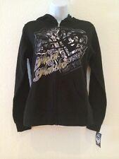 NWT Metal Mulisha Scandalous Black Zip Fleece Ladies Hoodie Small M33722301X