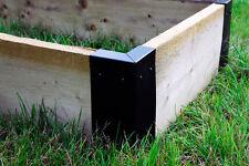 Large Corner Brackets Raised Bed Bedding Vegetable Planter Box Garden x 4 -Black