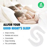 2Pcs Quiet Stop Snoring Guard Anti Snore Night Sleep Apnea MouthPiece Grind JQA