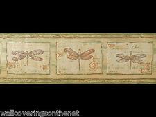 """""""Libellula"""" Lavabile IMBOTTITO Vinile Carta da parati di confine (17,5 cm x 4.57 M)"""