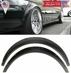 "2 Pcs 2.75"" ABS Black Flexible Wide Fender Flares Extension For  Mazda Subaru"