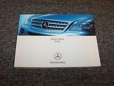 2008 Mercedes Benz ML320 ML350 ML550 ML63 AMG M-Class Owner Operator Manual Book