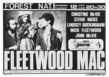 Fleetwood Mac POSTER Live in Brussels Belgium Stevie Nicks Lindsey Buckingham