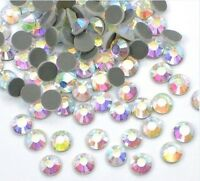 1440pcs Hotfix Heat Iron-On Rhinestones Seed Beads SS10 Clear Crystal AB 3mm