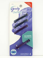 GOODY OUCHLESS FLEX COMFORT HAIR BARRETTES - 4 PCS. - BLUE & PURPLE (02076-1)