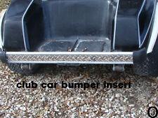 Club Car Golf Cart Highly Polished Diamond Plate Rear Bumper Insert