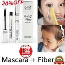 4D Silk Fiber Eyelash Mascara Extension Makeup Waterproof Kit Eye Lashes Black @