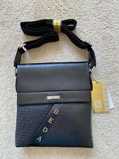 ESBEDA Leather Crossbody Tote Sling Bag Men Messenger Shoulder Bag*  Black