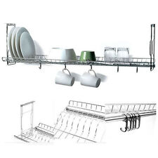 "31"" Stainless Fixing Dish Drying Rack Single Shelf Sink Kitchen Cup Storage New"