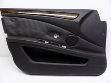 2008-2010 BMW 550i 535i FRONT LEFT INTERIOR DOOR PANEL COVER BLACK TRIM OEM