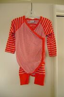 Hanna Andersson Orange & White Striped Kimono Bodysuit And Wiggle Pants   85  2T